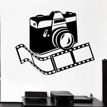 Wall Decal Camera Photo Photographer Room Decor Vinyl Stickers Art Mural Unique Gift ig2565