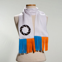 Aperture Portal Embroidered Scarf