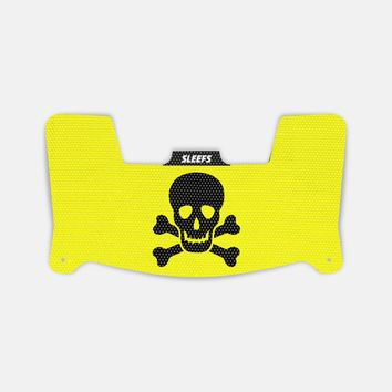 Skullie Yellow Black Visor Skin