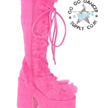 Pink Camel 311 Gogo Boots | Demonia