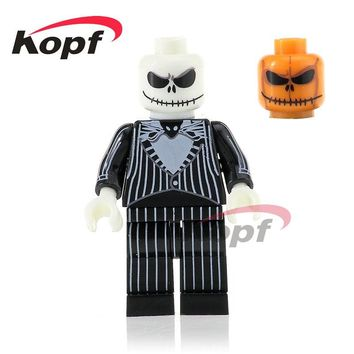 Single Sale Halloween The Horror Theme Movie Jack Skellington Jeepers Creepers Ring Building Blocks Toys children Gift PG1072