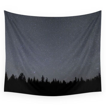 Society6 Night Sky In Northern Michigan Wall Tapestry