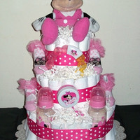 Minnie Mouse 3 Tier Diaper Cake