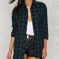 Plaid as Rabbits Button Up Shirt