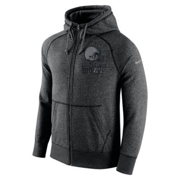 Nike AW77 Gridiron Grey Full-Zip (NFL Browns) Men's Hoodie