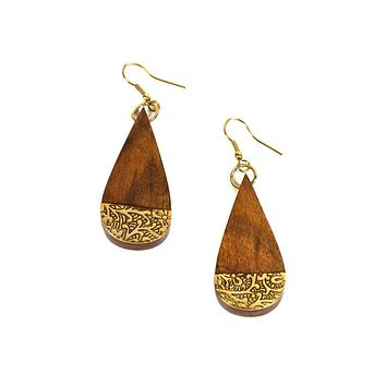 Earth and Fire Earrings - Teardrop - Matr Boomie (Jewelry)