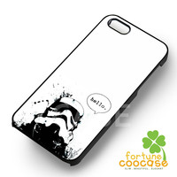 Star wars stormtrooper say hello -NDA for iPhone 6S case, iPhone 5s case, iPhone 6 case, iPhone 4S, Samsung S6 Edge