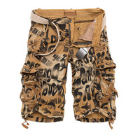 Men's Camouflage Cargo Shorts W/ Multi-Pockets