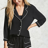 Contrast-Piped PJ Set