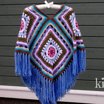 soft and warm poncho for summernights, parties, festivals