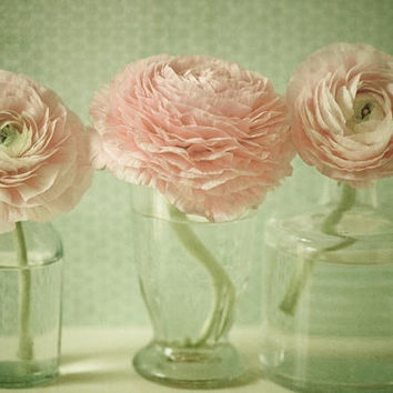 Bloom pink nursery decor modern flower by joystclaire on Etsy
