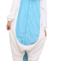 Christmas Gift Triline New Adult Kigurumi Animal Sleepsuit Pajamas Costume Cosplay Unicorn Onesuit Blue [8384145287]