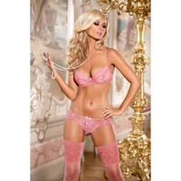 Axami V-4251 Push-up Bra Briefs Set Dreamy Pink