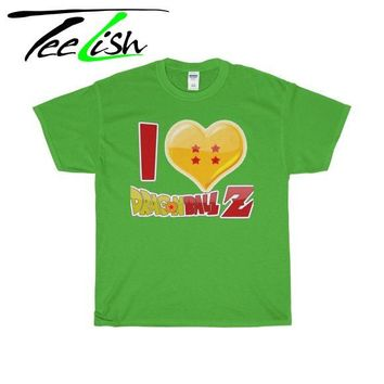 I love dragon ball z shirt graphic tees for men and women Xs-5XL