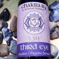 "Third Eye Chakra Spray ""I See"" Increase Your Intuition, Psychic Senses & Improve Meditation Visions"