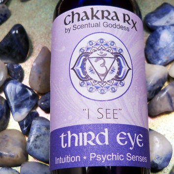 "Third Eye Chakra Spray ""I See"" 6th Indigo Brow Chakras - Open Up Your Intuition & Psychic Senses - See Hear Feel Spirit in Your Mind's Eye"