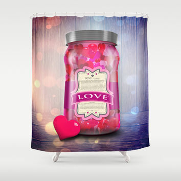 """Soul Purpose"" Collection Love in Color / Mason Jar Art Shower Curtain by soaring anchor designs ⚓ 