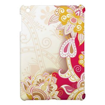 beautiful colored floral case cover for the iPad mini