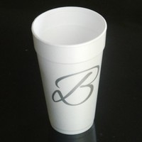 Foam Cups Custom Printed (500) Personalized 12 oz White Your Logo / Brand
