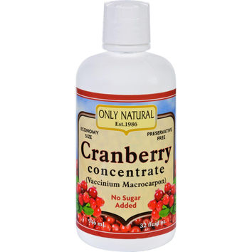 Only Natural Juice Concentrate - Organic - Cranberry - 32 Oz