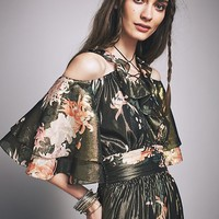 Free People Cecily Metallic Gown