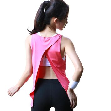 Ladies Casual Quick Dry Summer Sexy Open Back Tank Top