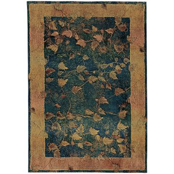 Oriental Weavers Kharma Blue/Gold Border 349B4 Area Rug