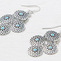 AEO Women's Turquoise Dot Chandelier Earrings