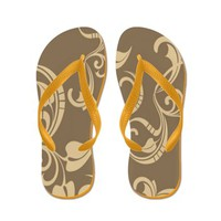 Brilliant Brown Flip Flops> Flip Flops > The Afterlife Online Clothing Store