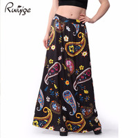 2017 Bohemian Long Skirt Women Vintage African Ladies Floral Embroidered New Arrival A Line Maxi Boho Plus Size Summer Skirt