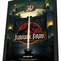 Jurassic Park 3D 11x17 Framed Movie Poster (2013)