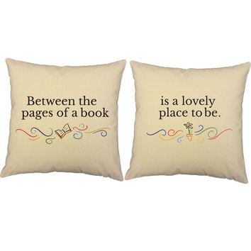 Between The Pages Book Throw Pillows