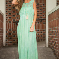Tide Is High Maxi Dress, Green