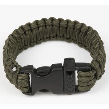 Outdoor Small Gadgets Camping Men Self-Rescue Paracord Parachute Cord Bracelets Emergency Survival Rope Whistle Scraper Buckle