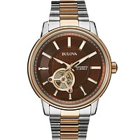 Bulova Automatic 21-Jewel Mens Watch - Two-Tone - Brown Dial