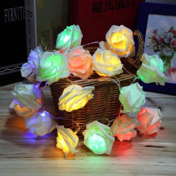 Holiday Lighting 20 LED Rose Flower Decorative String Lights
