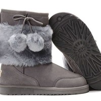 UGG 5899 Classic Short Boots Grey Outlet UK