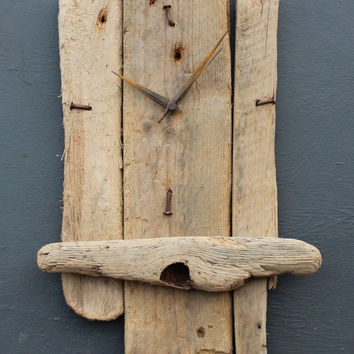 Driftwood Clock, Driftwood Wall Clock, Drift Wood Clock, Beach finds Clock
