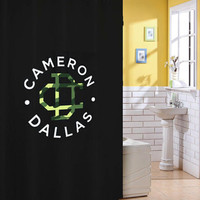cameron dallas army logo shower curtain