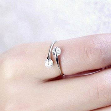 Double Crystal Ring for Women