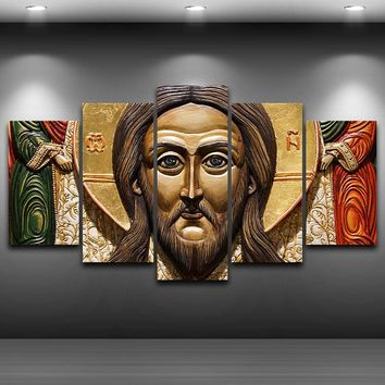 Jesus Statues Spray Oil Painting Decoration Artistic Printed Drawing on Canvas Printed Home Decor Framed wall art picture AE0717