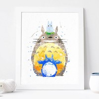 My Neighbor Totoro – Studio Ghibli – Watercolor Art Print