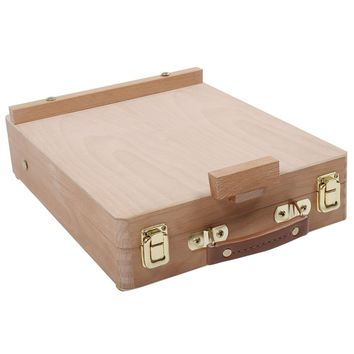 TFBC-Easel Artist Craft with Integrated Wooden Box Art Drawing Painting Table Box