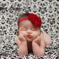 Baby Girls Headbands... Newborn Headbands... Red Heart Headband