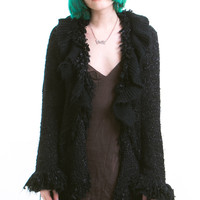 Vintage Black Magic Fluffy Cardigan - XS/S/M