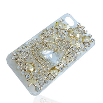 Bling Crown Skull iPhone Case Mermaid iphone 44s by HappyHandMaker