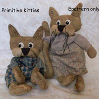 primitive pattern, epattern, primitive Kitty pattern, - 240