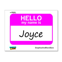 Joyce Hello My Name Is Sticker