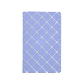 Medieval Blue and White Pattern Pocket Journal