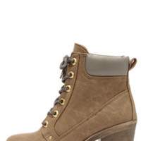Dirty Laundry Remix Taupe High Heel Work Boots